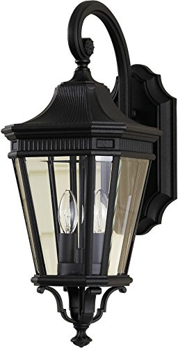 "Feiss OL5401BK Cotswold Lane Outdoor Patio Lighting Wall Lantern, Black, 2-Light (9""W x 21""H) 120watts from Murray Feiss"