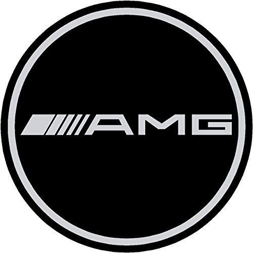 AMG Mercedes-benz Black Replacement Decal Sticker 6 Piece Set (60mm)