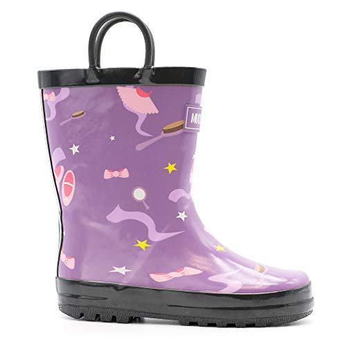 Mucky Wear Children's Rubber Rain Boot, Ballerina, 9T US ()