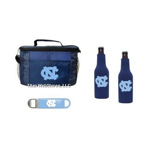 - NCAA North Carolina 6 Pack Cooler, Bottle Suit (2) & Opener Set | North Carolina Tar Heels Tailgating Set