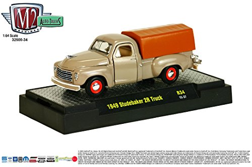 1949 STUDEBAKER 2R TRUCK * Auto-Trucks Series Release 34 * M2 Machines 2015 Castline Premium Edition 1:64 Scale Die-Cast Vehicle ( R34 15-37 )