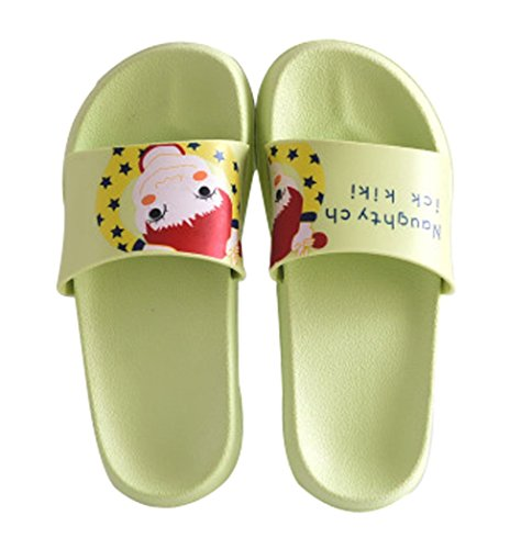 Cattior Dames Cartoon Badkamer Douche Pantoffel Strand Slippers Sandaal Groen