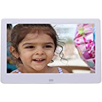 Digital Photo Frame 12.1 Inch Ultra Modern 8GB Built in memory HD Video 1080 dp, Remote Control, with Calendar and Clock White
