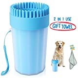 Portable Dog Paw Cleaner Upgrade Dog Cleaner with Towel Dog Cleaning...