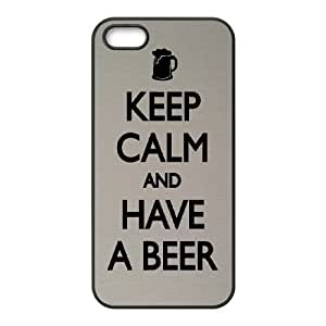 Keep Calm Drink Beer iPhone 4 4s Cell Phone Case Black xlb-104652