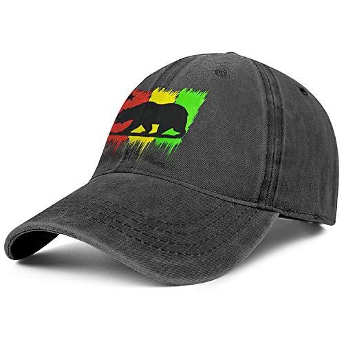 Rasta California Bear Flag Men Women's Denim Trucker Cap Adjustable Snapback Sports Hat