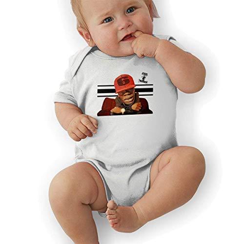 TCJX Three 6 Mafia Crunchy Unisex Cool Boys & Girls Romper Baby BoyPlaysuit White]()