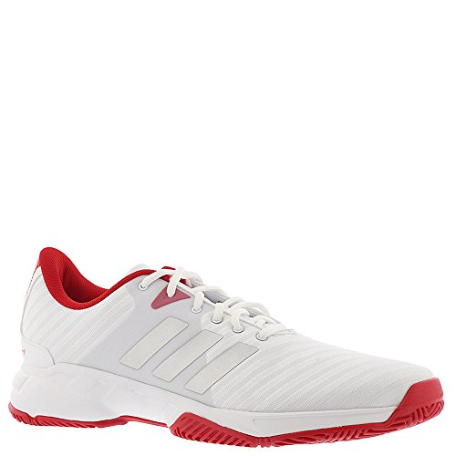Barricade Adidas Tennis Shoes (adidas Performance Men's Barricade Court 3 Tennis Shoe, White/Matte Silver/Scarlet, 10.5 M US)