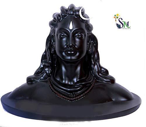 SN handicrafts Lord Shiva in Dhyana Mudra Adiyogi Shiva Idol for Home Decor, & Puja, Matte Black, 16.5 cm x 11 cm x 13…