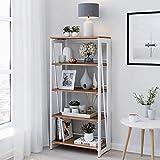 Living Skog Foldable Bookshelf - 5 Tiers Foldable Bookcase Shelf Organizer - Durable Shelves Organizer for Home and Office Storage - Inside Storage...