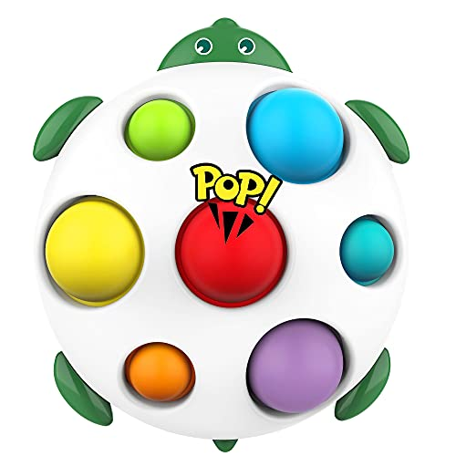 Simple Dimple Fidget Toy, Color Learning Toys for Kids, Flipping Board Toy Early Educational Tool Stress Relief Anti-Anxiety Sensory Fidget Toys for Children Boy Girl