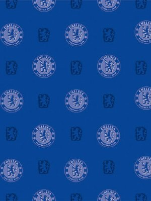 Chelsea Wallpaper Blue Crest Design