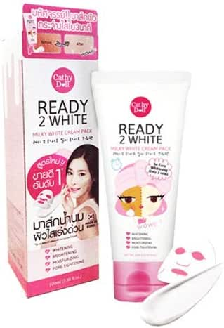 100 ML. CATHY DOLL READY 2 WHITE MILKY DRESS CREAM PACK BRIGHTENING WHITENING