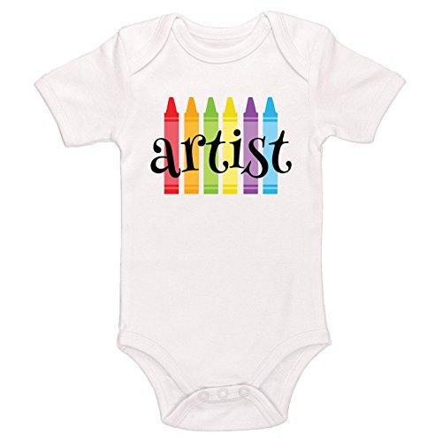 Artist Baby Onesie (Starlight Baby artist Bodysuit (White, 6-12 Months))