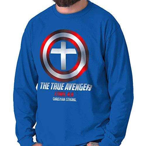 True Jesus Christ Religion Superhero Shield Long Sleeve