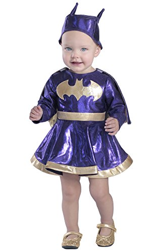 Princess Paradise Baby Girls' Batgirl Dress and Diaper Cover Set Deluxe, As Shown, 0 to 6 Months -