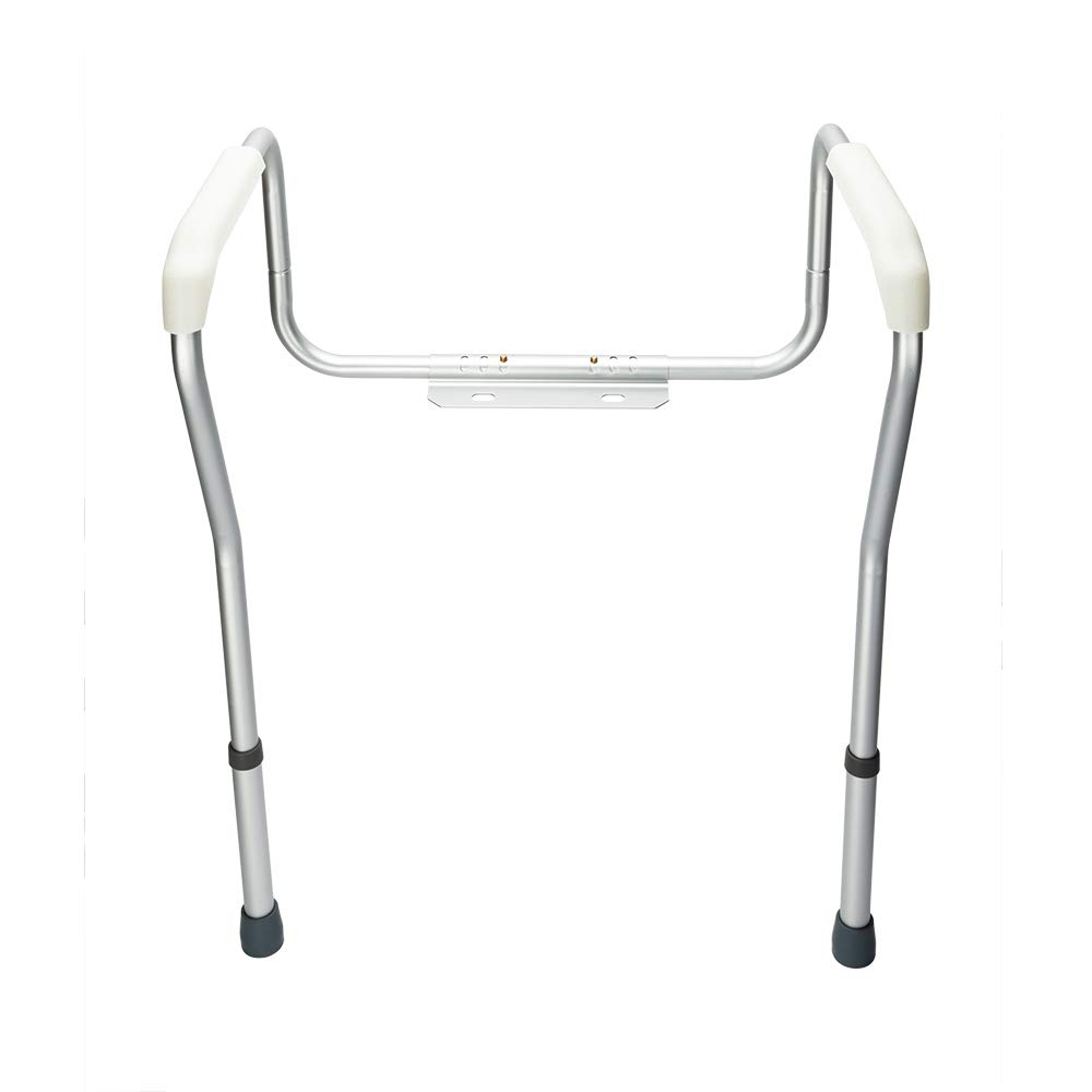 OvMax Toilet Safety Frame, Bathroom Safety Rail with Toilet Seat Assist Handrail Grab Bar, Medical Supply for Elderly, Adjustable Legs and Arm by OvMax (Image #2)
