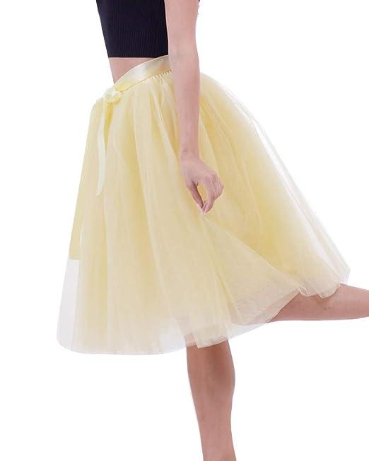 Mengyu Falda Tul Princesa Mujer Enagua Tutú Falda Ballet Vestido 7 ...