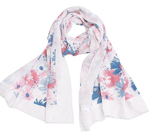 Women Lightweight Soft Printed Scarf - Denim Light Thin Oblong Scarfs Wrap Shawl For Spring Summer 2018 New Design Fashion Scarfs Idea Gift