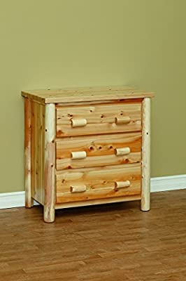 White Cedar Classic 3 Drawer Chest *6 stain options*