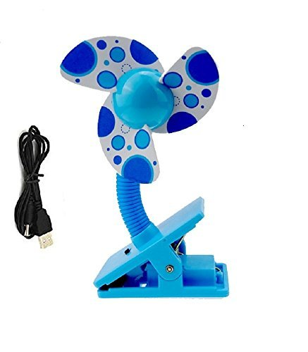 Disney Foamies (Clip On Baby Stroller Fan with Soft Foam Blade Portable Mini Travel/ Desk / Versatile Personal Fan Powered by USB/ 2 AA Batteries)