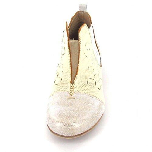 Charme Stiefelette Combi 1, Farbe: beige/metallic