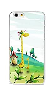 iPhone 6 Case Cover, Colorful Printed Vector Spring Giraffes Slim & Flexible PC Skin Cover for iPhone 6 4.7inch