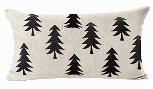 - QINU KEONU Forest Tree Geometry Cotton Linen Lumbar Waist Pillow Case Cushion Cover Home Sofa Decorative (8)
