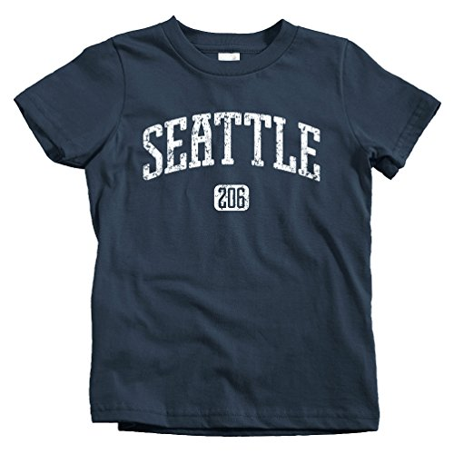 (Smash Transit Kids Seattle 206 T-Shirt - Navy, Youth X-Small)