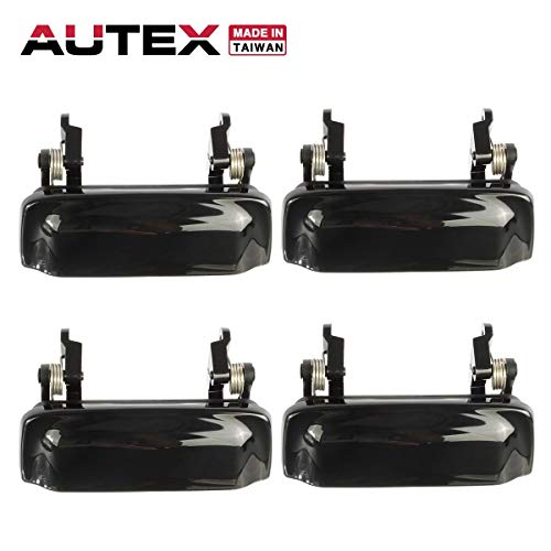 AUTEX 79102 4pcs Exterior Door Handles Front Rear Left Right Driver Passenger Side Compatible with 1998 1999 2000 2001 Ford Explorer Mercury Mountaineer F87Z7822404BAL