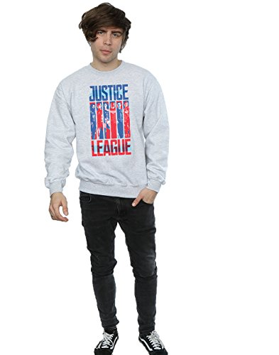 Justice Gris De Flag Hombre Dc Team Comics Sport Camisa League Entrenamiento Movie qEvZaSw