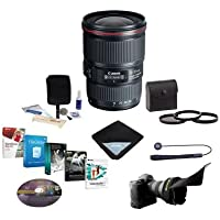 Canon EF 16-35mm f/4.0L IS USM Wide Zoom Lens USA BUNDLE + More #9518B002 NK