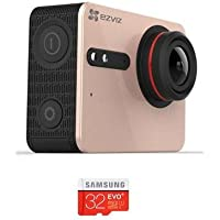 EZVIZ FIVE PLUS Action Camera, 4K 30fps, Amber Gold - With 32GB Micro SDHC Card