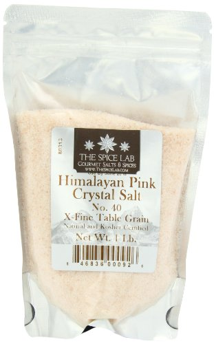 The Spice Lab Pink Himalayan Fine Salt - Gourmet Pure Crystal - .5mm - 1 Pound
