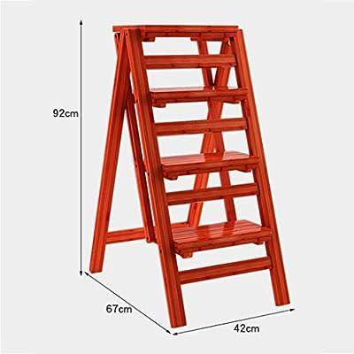 STOOL Escalera con peldaños Taburetes con peldaños para el hogar, 4 peldaños Escalera con peldaños Escalera ensanchada Escalera plegable Estantería de madera para interiores para adultos Estantes par: Amazon.es: Bricolaje y herramientas