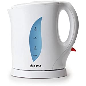 Aroma 1.0 L Electric Kettle White WLM