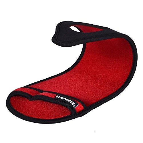 Flopeeze Originaux Universel Pieds Nus Style Chaussures Feu Rouge