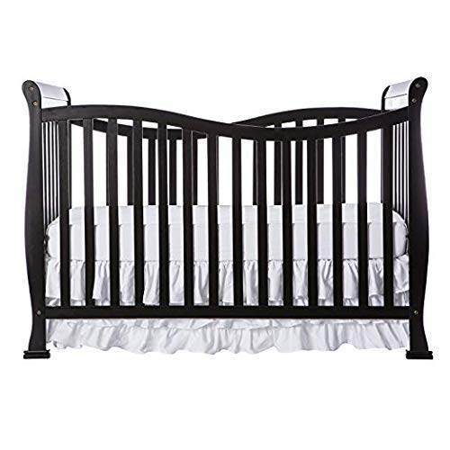 Dream On Me Violet 7 in 1 Convertible Life Style Crib (Black w/Mattress)