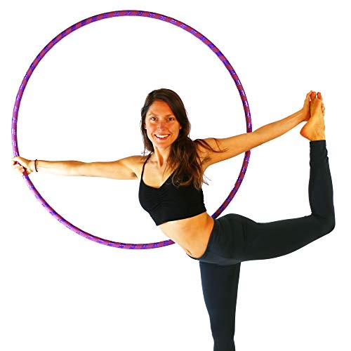Weighted Hula Hoop for Exercise. Your Choice of Color. Made in The USA. (Iris, Large - 40