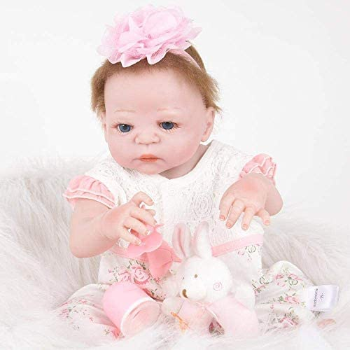 Reborn babypop, levensechte siliconen baby reborn doll Reality pasgeboren pop Kids Gift 55cm