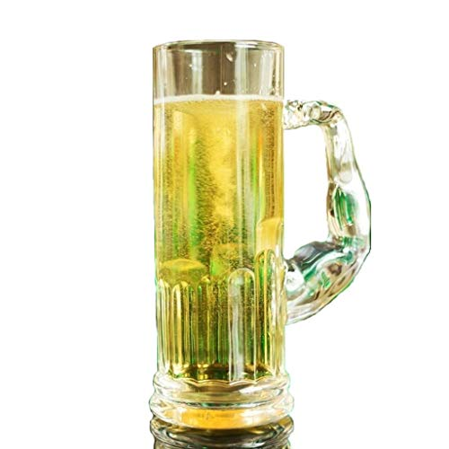 AMCER Large Beer Mug Perfect Pint Glass to Explode Flavors and Maximize Beer Enjoyment Great for Restaurants Beer Gardens and Parties Ideal Father's Gift - 2 pcs by AMCER