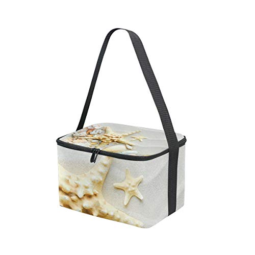 for Lunchbox Shoulder Strap Conch Picnic and Beach Starfish Bag Lunch with Seashells Cooler P7qxv8PHwC