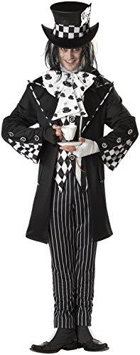 California Costumes Men's Dark Mad Hatter Costume,Multi,Large
