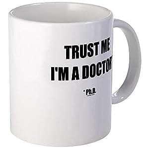 Confiar en el Doctor aerodinámico de la taza CafePress, cerámica, Blanco, small