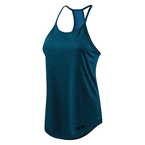 Women's TCA Switch-Up Reversible Workout Tank Sleeveless Vest Top - Midnight Blue M