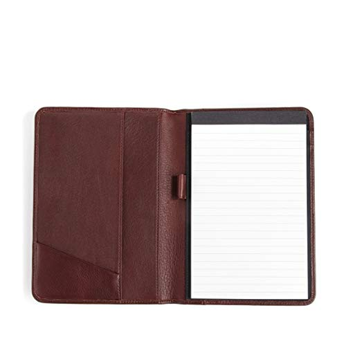 Leatherology Junior Padfolio with Pen Loop - Full Grain Leather - Burgundy (red) Burgundy Leather Presentation Case