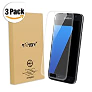 Galaxy S7 Screen Protector [Full Coverage] ,Yootech [3-Pack] [Anti-Bubble] [HD Clear Film] Curved Edge to Edge Screen Protector for Samsung Galaxy S7,Lifetime Warranty