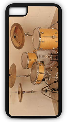 iPhone 6 Plus 6+ Case Drum Set Drum Solo Sticks Cymbals Customizable by TYD Designs in Black Rubber