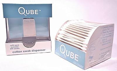 Qube 001 Qube Cotton Swab Dispenser