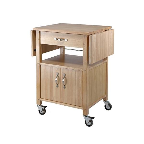 Winsome Wood Drop-Leaf Kitchen Cart